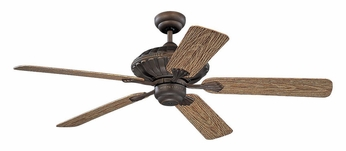 Monte Carlo Fans 5CZ52RB Cozumel Roman Bronze Finish 52 Inch Wide Outdoor Ceiling Fan With American Walnut Blades