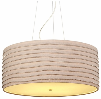 LBL Zip Brown Modern Drum Pendant Lighting