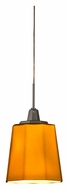 AFX ATPL45027AM 4 Inch Diameter Mini Amber Glass Bar Lighting Pendant - LED
