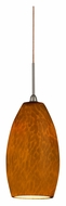 AFX BEPL45027AM 4 Inch Diameter LED Amber Glass Mini Drop Lighting Fixture