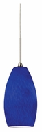 AFX BEPL45040BU LED Blue Glass Mini Lighting Pendant With Finish Options