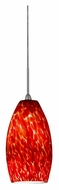 AFX BEPL45040RD Red Glass 3 Inch Diameter Mini Pendant Lighting Fixture