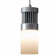 Bruck Chroma I LED Matte Chrome Finish Mini Pendant Lighting Fixture - Modern