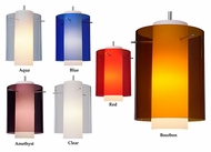Bruck Rome Modern 7 Inch Diameter Colored Glass Mini Pendant Lamp