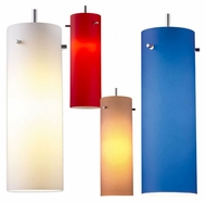 Bruck Titan Cylindrical 11 Inch Tall Colored Glass Mini Bar Lighting Pendant