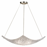 Fine Art 841340 Constructivism Large 3 Lamp Silver Leaf Ceiling Pendant Lighting - Modern