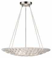 Fine Art 843240 Constructivism Large Silver Leaf 24 Inch Diameter Drop Lighting Fixture
