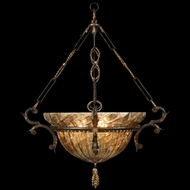 Fine Art 405040 Epicurean Charred Iron 28 Inch Diameter Inverted Pendant Light Fixture