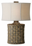 Uttermost 26445-1 Cestino 27 Inch Tall Light Pecan Finish Table Lamp