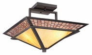 Quoizel TFMN1717VB Mason Vintage Bronze Semi Flush Craftsman Ceiling Light