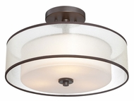 Quoizel VTE1716WT Votive Transitional Style Western Bronze Semi Flush Lighting
