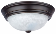 Quoizel AL182PN Alabaster Melon Small Transitional Flush Mount Palladian Bronze Ceiling Light