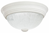 Quoizel AL182W Alabaster Melon Small Fresco Finish 10 Inch Diameter Flush Lighting Fixture
