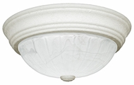 Quoizel AL183W Alabaster Melon Medium Flush Mount Fresco Ceiling Lamp - 13 Inch Diameter
