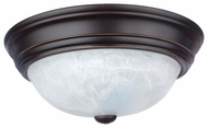Quoizel AL184PN Alabaster Melon Large Palladian Bronze Flush Mount Light Fixture