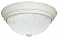 Quoizel AL184W Alabaster Melon Large 15 Inch Diameter Transitional Ceiling Lighting