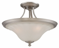 Quoizel ALZ1718AN Aliza Semi Flush Mount Antique Nickel Ceiling Lamp - 18 Inch Diameter