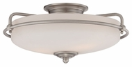 Quoizel GF1617AN Griffin Small Semi Flush Antique Nickel 17 Inch Diameter Ceiling Light