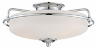 Quoizel GF1617C Griffin Small Polished Chrome Semi Flush Retro Ceiling Lighting