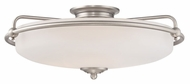 Quoizel GF1621AN Griffin Large 21 Inch Diameter Antique Nickel Vintage Ceiling Light