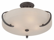 Quoizel RL1720WT01 Radcliff Semi Flush Mount Western Bronze Ceiling Light Fixture