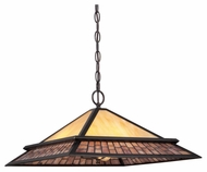 Quoizel TFMN2818VB Mason 18 Inch Diameter Craftsman Lighting Pendant - Vintage Bronze