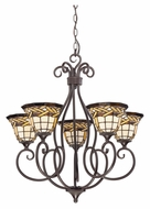 Quoizel TFCW5005IB Cross Weave 5 Lamp Imperial Bronze 26 Inch Diameter Lighting Chandelier