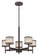 Quoizel VTE5005WT Votive 5 Lamp Western Bronze Transitional Chandelier Light Fixture