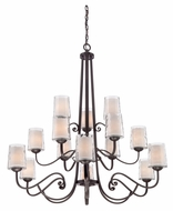 Quoizel ADS5015DC Adonis 40 Inch Diameter Dark Cherry Traditional Lighting Chandelier