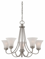 Quoizel ALZ5005AN Aliza Antique Nickel 5 Lamp Transitional Chandelier Light Fixture - Small