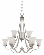 Quoizel ALZ5009AN Aliza Transitional Antique Nickel 9 Light Chandelier - Medium
