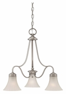 Quoizel ALZ5103AN Aliza Downlight 3 Lamp Antique Nickel Hanging Chandelier