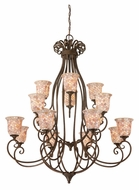 Quoizel MY5016ML Monterey Mosaic Large 16 Lamp Malaga Finish Lighting Chandelier