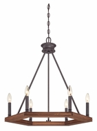 Quoizel PTN5006DK Plantation Darkest Bronze 6 Candle Ceiling Chandelier Lighting