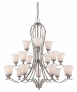Quoizel SPH5018BN Sophia 43 Inch Diameter 18 Lamp Transitional Lighting Chandelier - Brushed Nickel