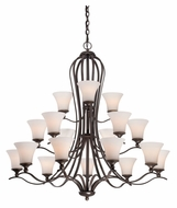 Quoizel SPH5018PN Sophia 18 Lamp Transitional Palladian Bronze Dining Room Chandelier