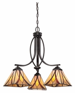 Quoizel TFAS5003VA Asheville 3 Lamp Valiant Bronze Downlight Hanging Chandelier