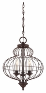 Quoizel LLA5203RA Laila Transitional 15 Inch Diameter 3 Lamp Mini Chandelier Light