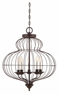 Quoizel LLA5205RA Laila 5 Lamp Rustic Antique Bronze Mini Hanging Chandelier