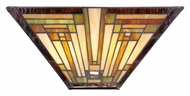Quoizel TFST8802 Stephen 2 Lamp Vintage Bronze Tiffany Art Glass Wall Sconce
