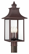 Quoizel CCR9010CU Chancellor Copper Bronze 22 Inch Tall Transitional Lighting Post