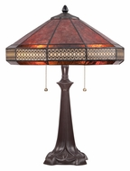 Quoizel MC1426TWT Mica 21 Inch Tall Western Bronze Finish Table Top Lamp