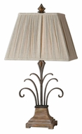 Uttermost 26468 Fossalto Hand Forged Bedroom Table Lamp - 34 Inches Tall