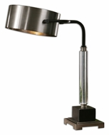 Uttermost 29493-1 Belding Lightly Antiqued Brushed Aluminum 23 Inch Tall Desk Lamp