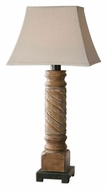 Uttermost 26473-1 Villaurbana 36 Inch Tall Light Wood Tone Club Table Lamp