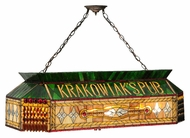 Meyda Tiffany 128766 Personalized Krakowiak's Pub Billiard Lighting Fixture - Tiffany