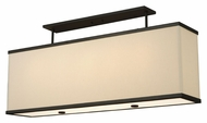 Meyda Tiffany 130985 Quadrato Lounge 5 Lamp 42 Inch Wide Contemporary Island Light