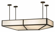 Meyda Tiffany 135220 Meyer BBQ 54 Inch Wide Oblong Island Pendant Light