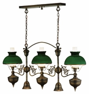 Meyda Tiffany 135505 Sunbury Traditional 5 Lamp 48 Inch Wide Kitchen Island Light