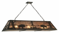 Meyda Tiffany 136776 Buffalo at Lake Rustic 61 Inch Wide Kitchen Island Lighting Pendant